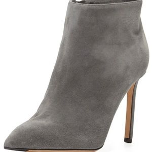 "Vince ""Chara"" Graphite Suede Point Toe Booties"